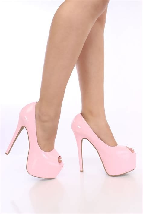Wedges Baby Pink 4ps 01 light pink shoes heels heels zone