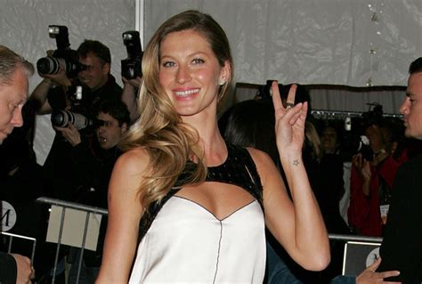 gisele bundchen tattoo gisele bundchen supermodels with tattoos stylebistro
