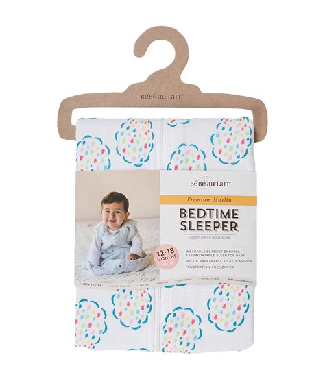 18 Month Sleepers by Bebe Au Lait Muslin Bedtime Sleeper 12 18 Months At