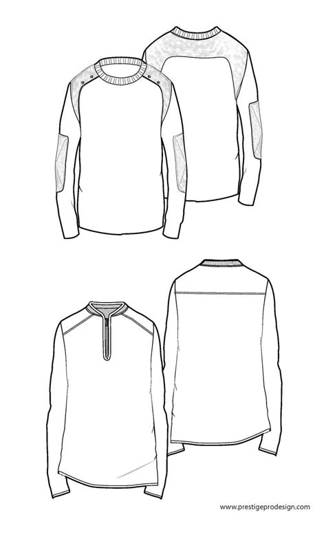 sweater free mens fashion flat sketches