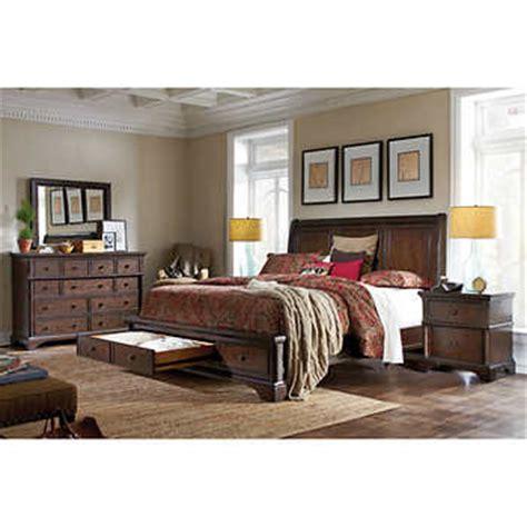 king storage bedroom set brownstone 5 piece cal king storage bedroom set
