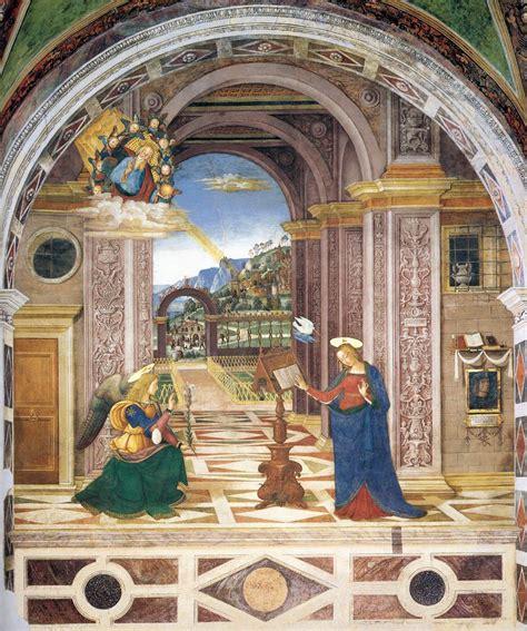 Frescoes in the baglioni chapel in spello