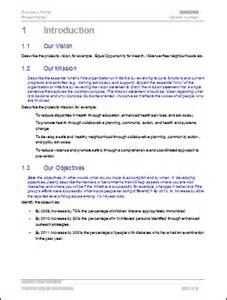 action plan template proposal writing tips