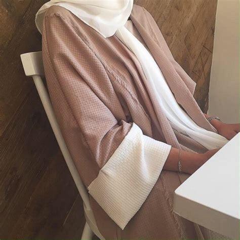 Arabic Pink coat abaya hijabi muslim islam arabic pink