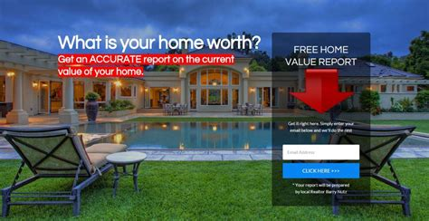 home value landing pages how they produce seller leads