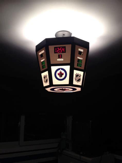 Scoreboard Light Winnipeg Jets Bedroom Theme Nhl Scoreboard Light Fixture