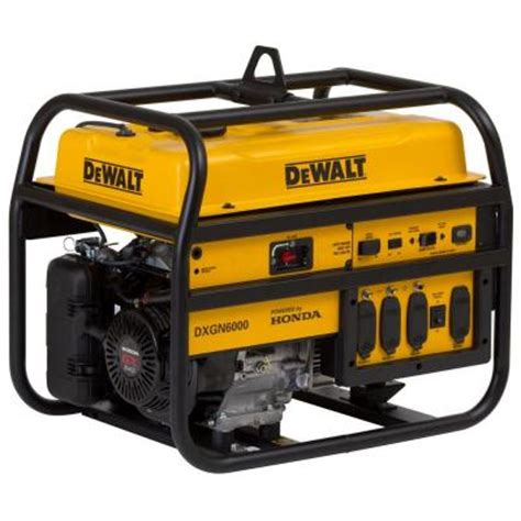 dewalt 6 000 watt gasoline powered manual start portable
