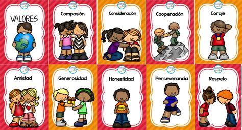 imagenes educativas de valores geniales dise 241 os para ense 241 ar y aprender los valores en la