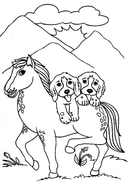coloring pages of horses and puppies dog coloring pages coloringsuite com