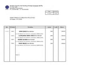 Invoice Template Usa by Invoice Of Actfl In Orlando Usa