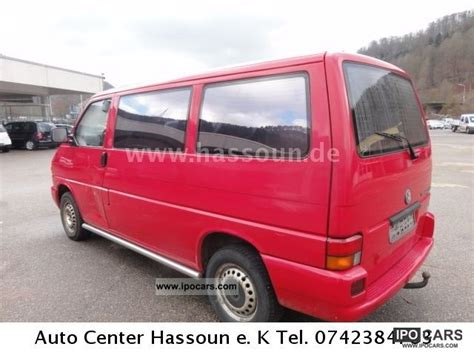 1999 volkswagen t4 transporter 8 seater car photo and specs