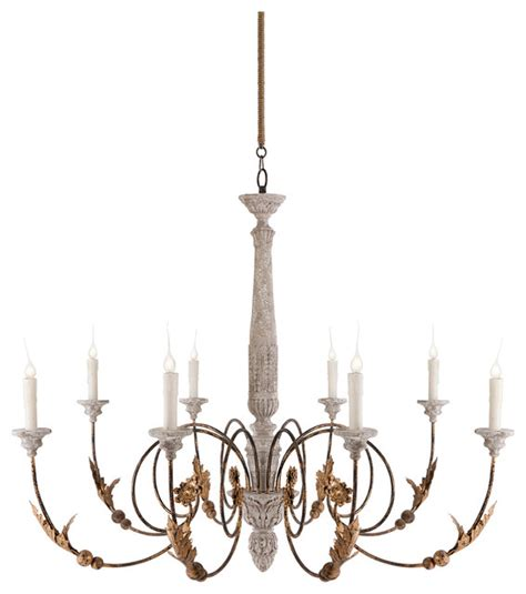 French Wine Barrel Chandelier Pauline Large French Country 8 Light Curled Iron Arm