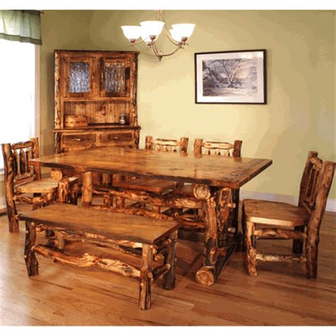 Dining Room Tables Colorado Springs Colorado Reclaimed Wood Aspen Log Dining Table