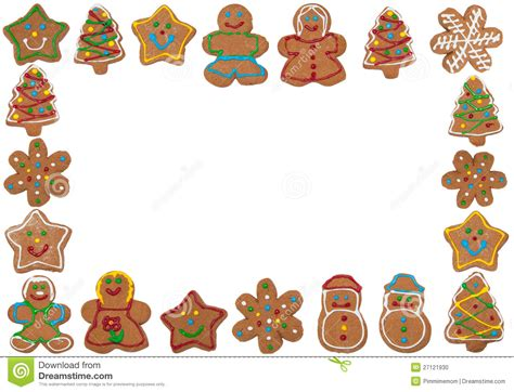 free printable gingerbread man border gingerbread clipart frame pencil and in color