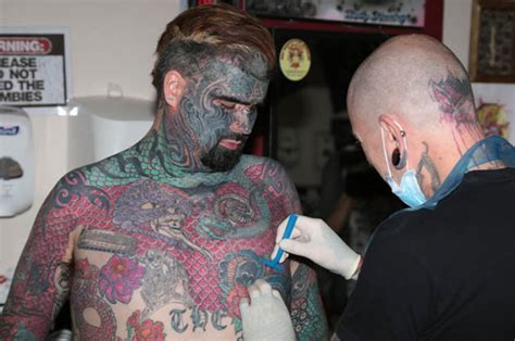most tattooed person britain s most tattooed has his removed
