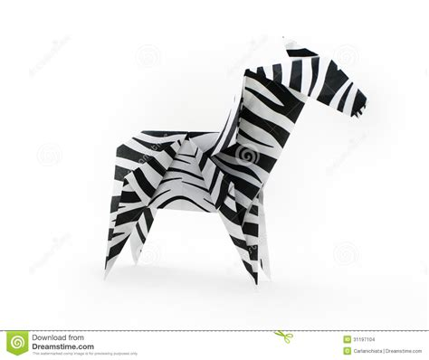 How To Make A Origami Zebra - zebra stock images image 31197104