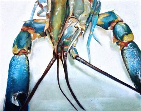 blue lobster painting www imgkid the image kid has it