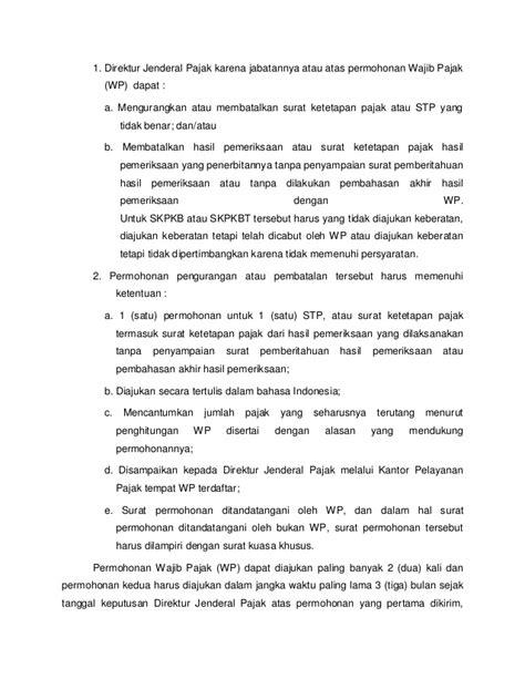 pengurangan atau pembatalan surat ketetapan pajak yang surat ketetapan pajak dan surat keputusan paper riama