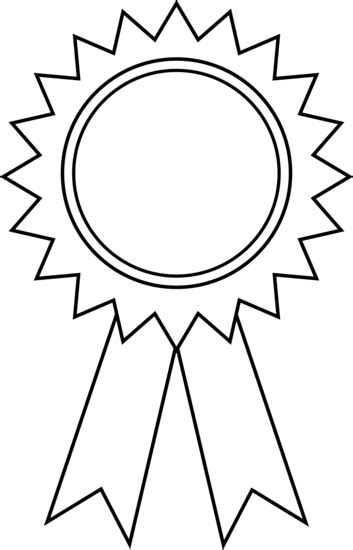 Award Ribbon Outline Free Clip Art Ribbon Award Template