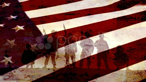 patriotic soldiers in front of us flag 1920x1080 hi