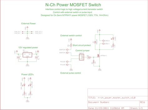 transistor mosfet switch simple mosfet switch