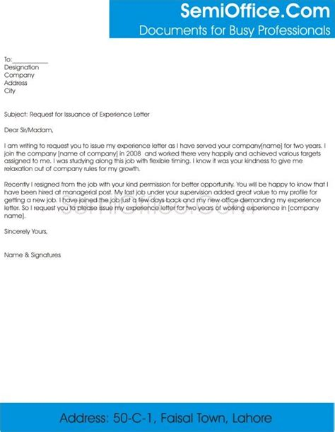 application letter for work experience 98 best application letter images on resume