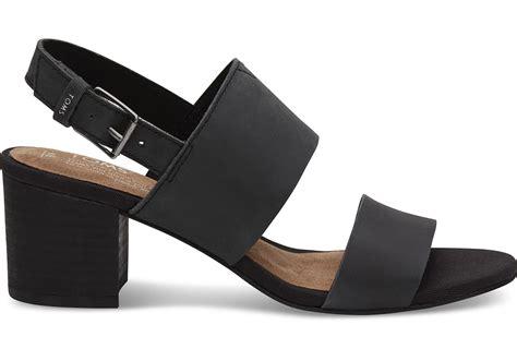 Sandal Poppy black leather s poppy sandals toms 174