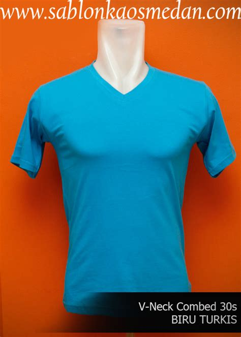 Kaos Polos Basic Biru Benhur O Neck High Quality Cotton sablon kaos medan sablon kaos murah dan lengkap 082167795696 kaos polos v neck bahan cotton