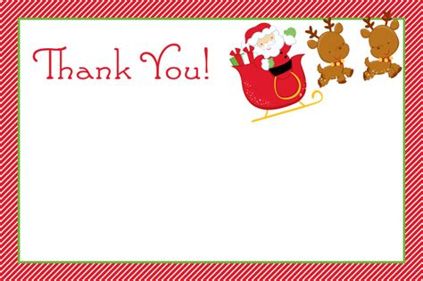 Thank You Letter Template Santa Thank You Cards Slim Image