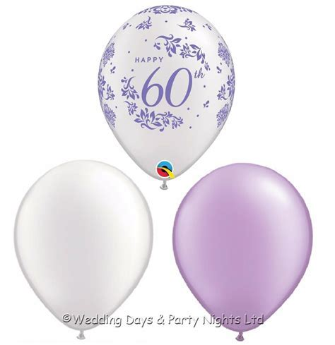30 Happy 60th Balloons Diamond Wedding Anniversary or