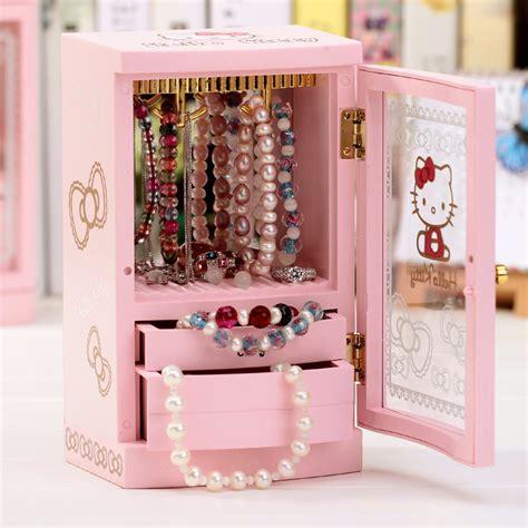 Box Acrylic Hello hello creative musical jewelry box storage box box acrylic makeup