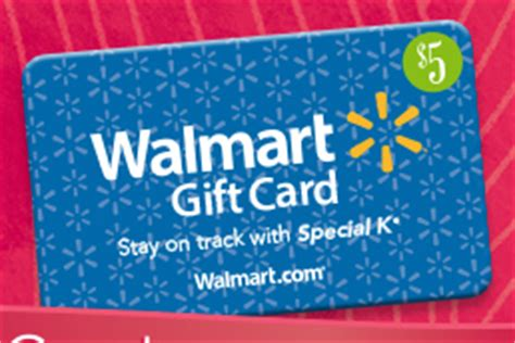 How To Get Free Walmart Gift Card - free 5 walmart gift card with special k purchase