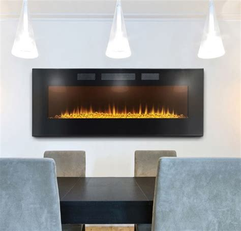 contemporary wall mounted electric fireplaces napoleon 50 in slimline wall mount electric fireplace