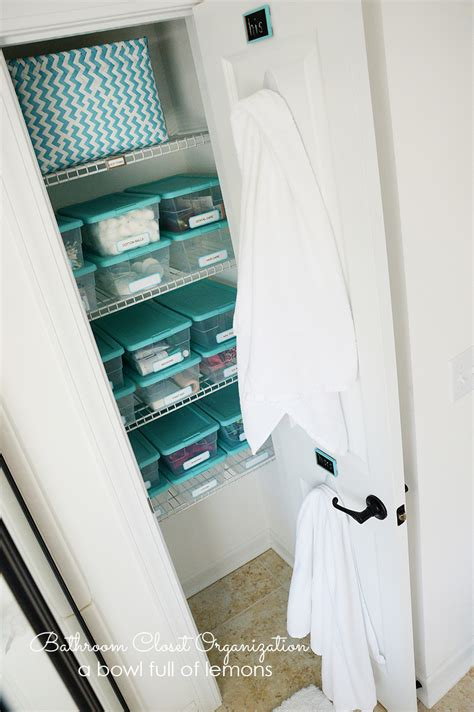Bathroom Closet Organization Ideas by Bathroom Closet Organization A Bowl Of Lemons