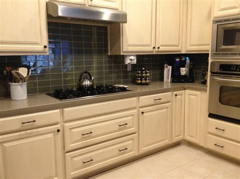 sagebrush glass subway tile kitchen backsplash subway