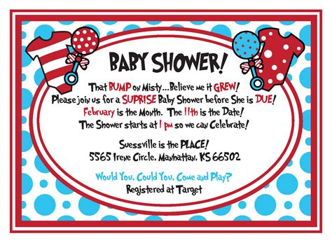Dr Seuss Baby Shower by Dr Seuss Baby Shower Invitations Printable Free Cimvitation