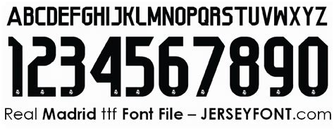 Font Jersey 1 soccer jersey number fonts free marketing