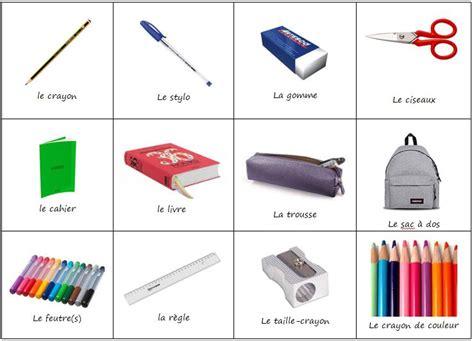 imagenes de objetos de utiles escolares los 250 tiles escolares en frances vocabulario les