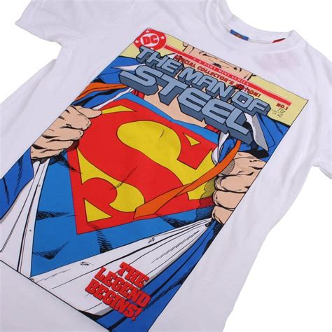 Tshirt Supermen White dc comics t shirt superman open white woodmint