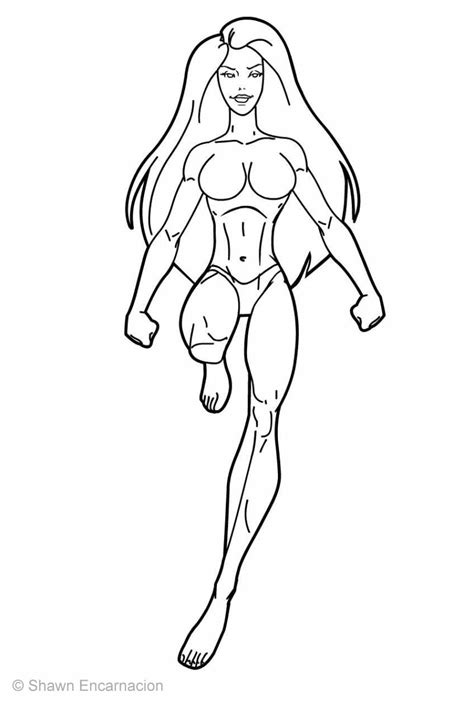 superhero outline coloring page superhero body outline coloring coloring pages