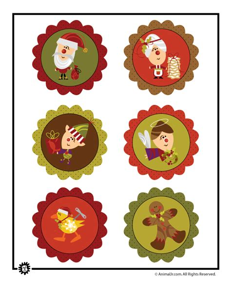 christmas decorations cutouts free printable decorations woo jr activities