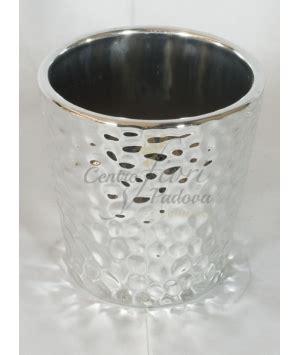 vasi argento vaso ceramica colore argento centro fiori