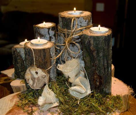 rustic wood wedding centerpieces 5 tea light wood branch tree slice candle holders fall decor centerpiece rustic wedding
