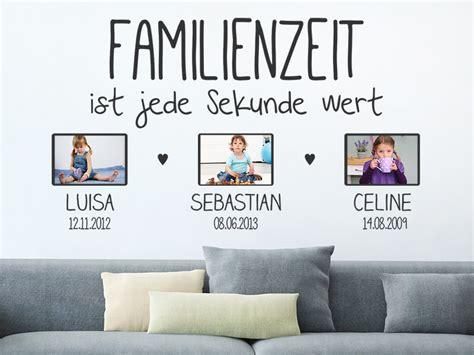 Wandgestaltung Mit Farben 2564 by Wandtattoo Familienzeit Ist Jede Mit Fotorahmen