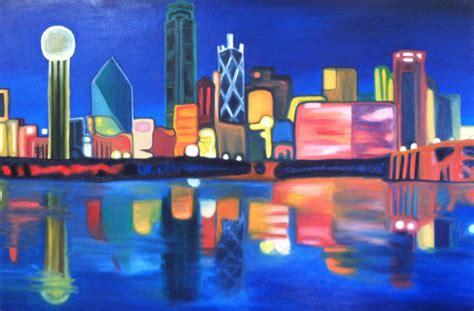 paint nite dallas dallas skyline painting mafiamedia