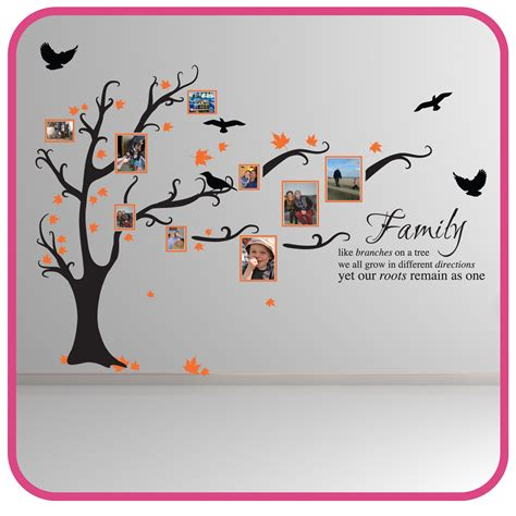 Ebay Uk Wall Stickers family tree bird wall stickers quotes decals ft1 ebay