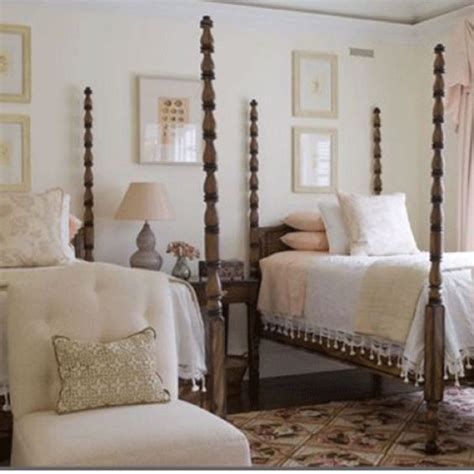 twin poster bed phoebe howard four poster twin beds crocheted pillows chenille bedspreads