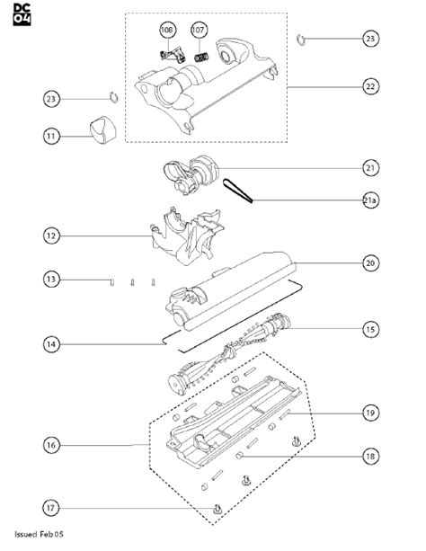 dc14 parts diagram dyson dc04 absolute sliver purple yellow vacuum cleaner
