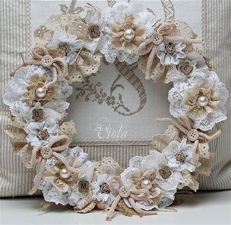 shabby chic inspired lace wreath wreath pinterest