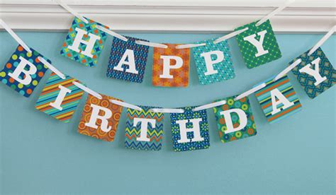 How To Make A Happy Birthday Banner Of Paper - happy birthday banner happy birthday banner